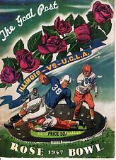 1947 Rose Bowl Football program Illinois Fightin' Illini vs. UCLA Bruins ~ Fair+
