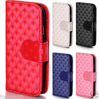 3D Pattern Leather Wallet Cover Magnetic Case for Samsung Galaxy S3 S4 Mini Ace