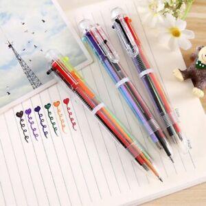 Creative Multicolor Ballpoint Pen Multifunction Press Personality 6 Color Pen
