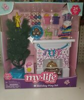 My Life Doll As Holiday Play Set Light Up Tree Christmas Fireplace Decorations