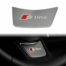 AUDI Sline Steering Wheel Aluminum Style S Line 1x Sticker Badge Decals