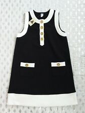 Baby Gap sleeveless black dress white trims sz 5 NWT