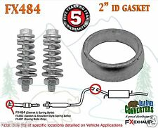 "FX484 2"" ID Exhaust Donut Gasket & Spring Bolts Stud Nut Hardware Repair Kit"