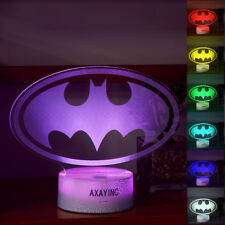 Batman 3D LED Night light Touch Switch Table Desk Lamp Christmas Gift  7 Color