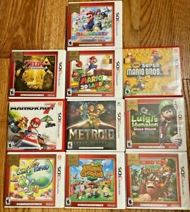 Lot of Ten Nintendo 3DS Games all with Cases and Instructions Don't Miss Out!