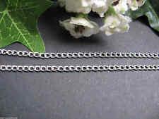 Feine Gliederkette 1m in hellem silber, Schmuck selbst herstellen Perlen basteln
