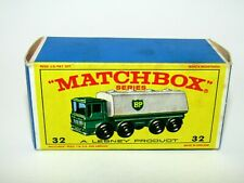 "Matchbox Regular Wheels No 32 Leyland Petrol Tanke ""E4"" Type Empty Box Excellent"