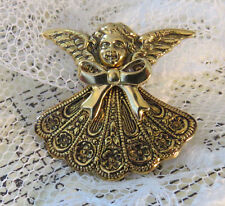 Mother's & Grandmother's Birthstone Angel Brooch Gld Pt