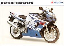 Suzuki GSXR600 UK sales brochure GSXR600 GSXR600K2 2002 K2 model