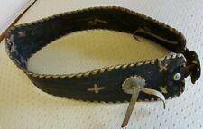 Vintage Black  Leather Motorcycle  Kidney Belt Circa 1930-40's Free Ship!