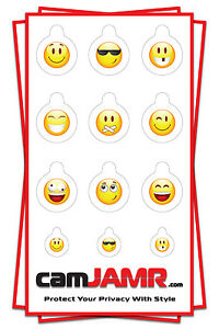 Webcam Cover - 3 PACK - Compatible With Multiple Devices (Smiley Pack)