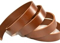 SECONDS: Medium Brown Buffalo Leather (8-9 ounce Heavy Weight) Strip Strap Blank