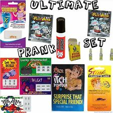Ultimate Prank Set - Stink,Fart Bombs,Fake Lotto,Fart Spray,Worm,Itch Powder,etc