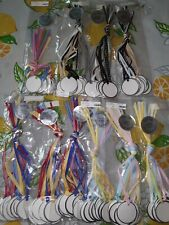 New 100 product/price/gift bag tags on grosgrain ribbon Multicolor Tinsel Tags