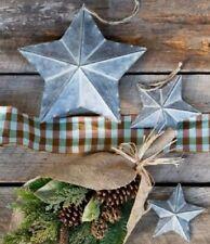 CHRISTMAS STAR Rustic Galvanized Metal Tin Farmhouse Style Star Wall Hanging