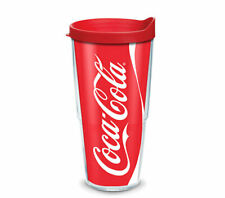 Tervis Tumbler 24 oz Coca Cola Coke Can Insulated Drink Cup w Red Travel Lid NWT