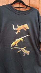 Crested Gecko T-Shirt Adult sizes. Crestie Lizard Reptile FREE POST