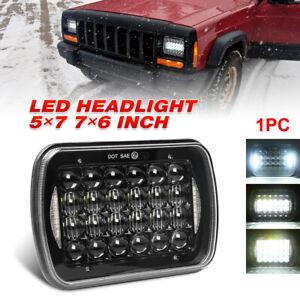 "7x6"" 5x7 5D Cree LED Headlight H4 For Jeep Cherokee XJ 1984-2001 Wrangler YJ GMC"