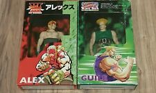 "VINTAGE  ALEX& GUILE 7""  Figure - Street Fighter 2&3 Capcom - Real Clothing"