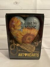 Studio Demdaco Art Hearts You Are My Sunshine New in Box Key Sealed Tim Coffey