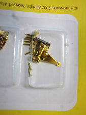 1/12 Scale Solid Brass  T Hinge w/nails 4pc  HW1130
