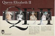 Montserrat 2012 neuf sans charnière Diamond Jubilee 6V feuille cérémonie du couronnement reine elizabeth