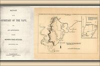 Poster, Many Sizes; Map Of Yazoo River Mississippi 1863