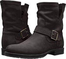 Frye Natalie Short Engineer Boot Black Leather Sz 6m