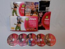 Zumba Fitness Incredible Slimdown 5 DVD Cardio Dance Exercise System Program Set