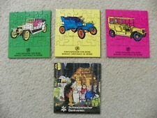 Lot of (4) Swiss Bank Small Puzzles-Vintage Cars and Hansel and Gretel