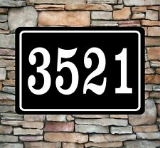 "Personalized Home Address Sign Aluminum 12"" x 8"" Custom House Number Plaque sq7"