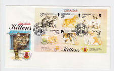 gibraltar 1997 cats,Sc 725 sheet of six,on FDC      l1218