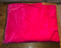 "Vintage Pink Velour Fabric  71"" x 60"" Hit Pink"