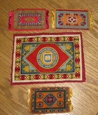 4 Old antique YALE University tobacco flannel Felt COLL YALEN mini MAGIC CARPET