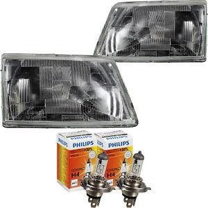 Scheinwerfer Set Peugeot 205 Bj. 83-96 H4 inkl. PHILIPS Lampen 5W1