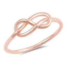USA Seller Infinity Knot Ring Sterling Silver 925 Jewelry Rose Gold Size 7