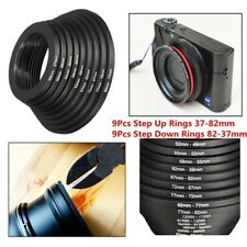 18Pcs Lens Filter Ring Adapter Step Up Down 37-82mm  Set For Canon Nikon Camera