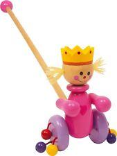 Schiebe-Königin Schiebefigur Schiebespielzeug aus Holz Prinzessin für Kinder Neu