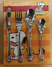 Kids Cutlery with Free Engraving Des Name, Snoopy with Embossed Images
