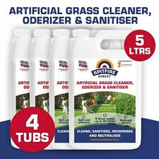 4X5 Litres ARTIFICIALGRASS ASTRO TURF FAKE GRASS CLEANER DEODORISER DISINFECTANT
