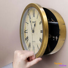 Spy Wall Clock Hidden Safe Security Jewelry Money Compartment Secret Stash Box