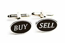 Buy Sell Cufflinks Stock Broker Oval Banker Wedding Fancy Gift Box Free Ship USA