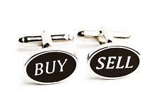 Buy Sell Cufflinks Stock Broker Oval Banker Wedding Fancy Gift Box Free Ship USA
