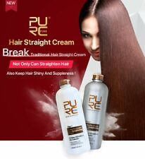 Hair Straightening Cream Set Keep Shiny and Suppleness for Frizzy Damaged Hair