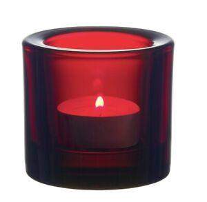 Iittala KIVI Marimmeko 60mm 2.36 Inch Votive Tealight Candle Holder Cranberry