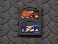 Lot Nintendo Game Boy Advance GBA Games Matchbox Missions + Hot Wheels Stunt