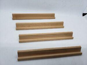 Vintage Scrabble Set Of 4 Wooden Tile Rack Holders Crafts Replacements 1998