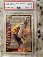 1996-97 Topps Kobe Bryant Youthquake Rookie Insert #YQ15 PSA 9 MINT Lakers