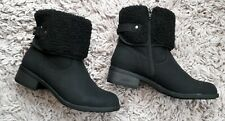 DOROTHY PERKINS BLACK ALASKA WOMENS LADIES BOOTS NEW SIZE UK 6 FAUX FUR LINED
