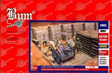 BUM Models 1/72 BRITISH ARMY AT THE SOMME with Resin 18 Pdr Gun Figure Set